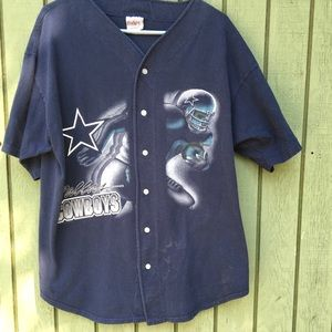 Vintage Dallas Cowboys 1996 NFLP Navy Tee Shirt